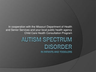 Early Intervention for Toddlers with Autism Spectrum Disorders Is It a Special Case