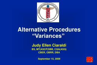 "Alternative Procedures ""Variances"""