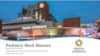 Pediatric Neck Masses