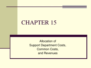 Chapter 15:  Pricing and the Revenue Management