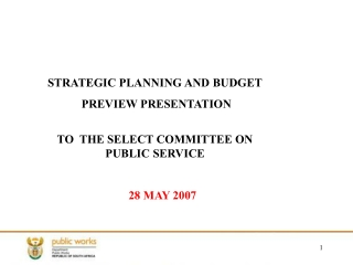 Resource Allocation Models   Devolved Budgeting