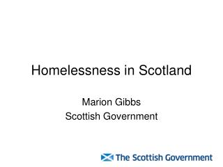 Homelessness in Scotland