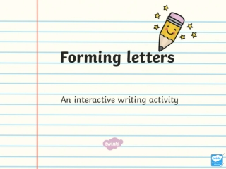 Just click on the pencil and it will show you how to form the letter.