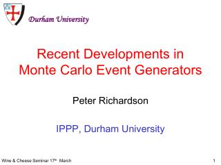 Recent Developments in Monte Carlo Event Generators