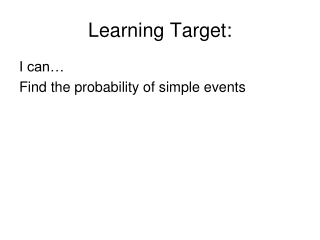 Learning Target: