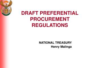 DRAFT PREFERENTIAL PROCUREMENT REGULATIONS