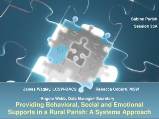 Providing Behavioral, Social and Emotional Supports in a Rural Parish: A Systems Approach