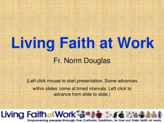 Living Faith at Work