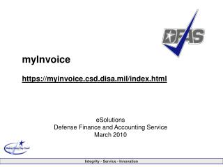 myInvoice https://myinvoice.csd.disa.mil/index.html
