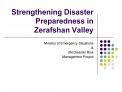 Strengthening Disaster Preparedness in Zerafshan Valley