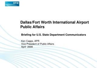 Dallas/Fort Worth International Airport Public Affairs