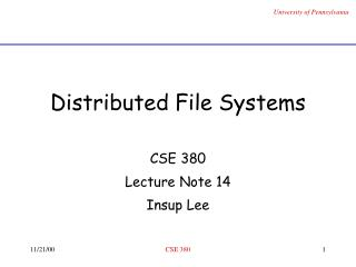 Distributed File Systems