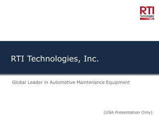 RTI Technologies, Inc.