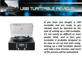 Usb Turntable Reviews