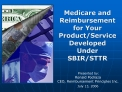 Medicare and Reimbursement for Your Product