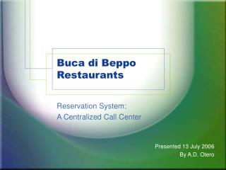 Buca di Beppo Restaurants