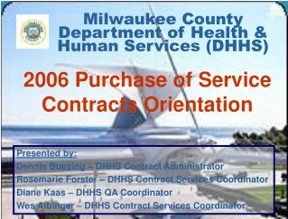 Milwaukee County Department of Health  Human Services DHHS