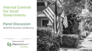 Internal Controls For Small Governments