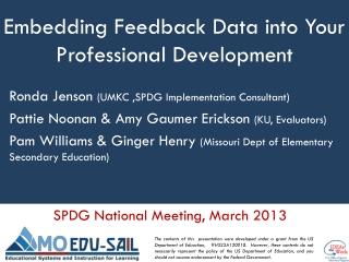 Embedding Feedback Data into Your Professional Development
