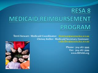 RESA 8  MEDICAID REIMBURSEMENT PROGRAM