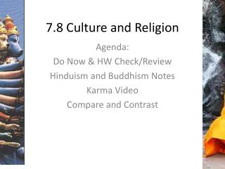 7.8 Culture and Religion