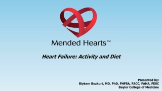 Activity and Nutrition in Heart Failure