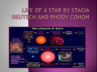 Life of a Star by  Stacia  Deutsch and  Rhody Cohon