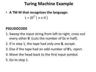 Turing Machine Example