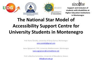 The National Star Model of Accessibility Support Centre for University Students in Montenegro