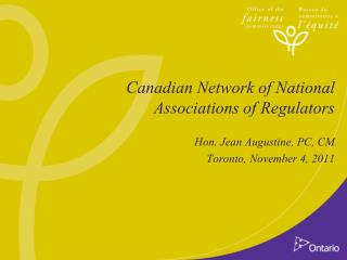 Canadian Network of National Associations of Regulators