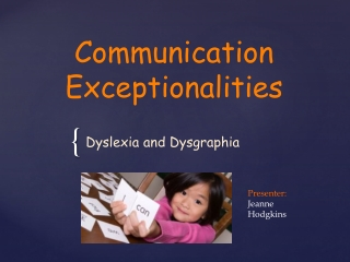 Communication Exceptionalities