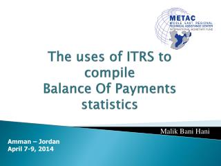 The uses of ITRS to compile  Balance Of Payments statistics