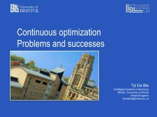 Continuous optimization Problems  and successes