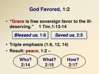 God Favored, 1:2