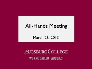 All-Hands Meeting