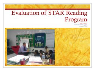 Evaluation of STAR Reading Program