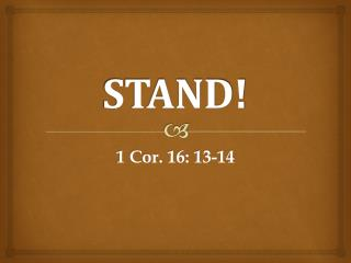 STAND!