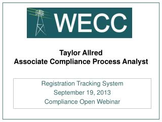 Taylor Allred Associate Compliance Process Analyst