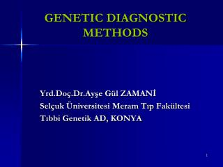 GENETIC DIAGNOSTIC METHODS