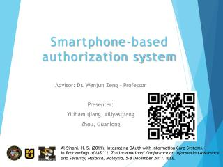 Smartphone-based authorization system