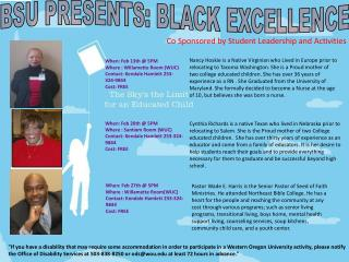 BSU PRESENTS: BLACK EXCELLENCE
