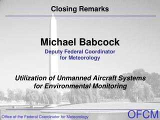 Michael Babcock Deputy Federal Coordinator  for Meteorology