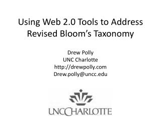 Using Web 2.0 Tools to Address Revised Bloom's Taxonomy