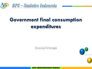 Government final consumption expenditures