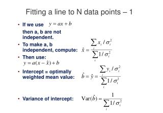 Fitting a line to N data points   1