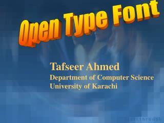 Open Type Font