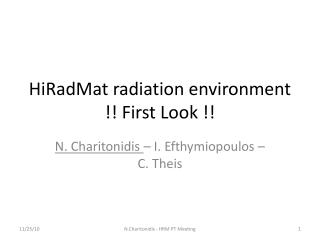 HiRadMat  radiation  environment  !! First Look !!