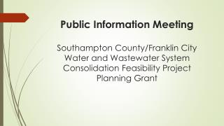 Public Information Meeting March 2014