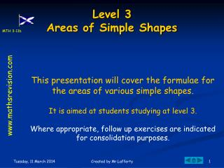 Level F  Areas of Simple Shapes