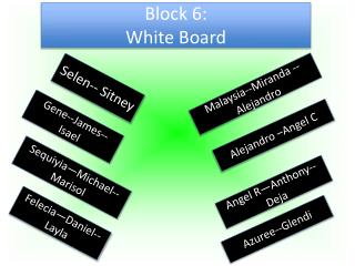 Block 6: White Board